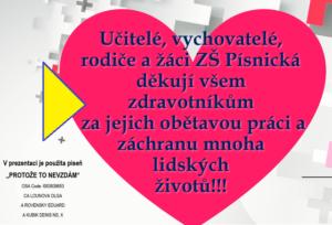 Video poděkování zdravotníkům - srdce